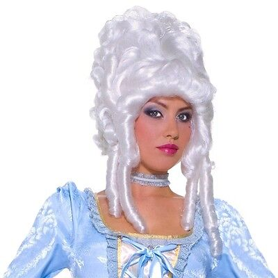 Deluxe Marie Antoinette Wig Costume Accessory Adult White Colonial - Costumes Marie Antoinette