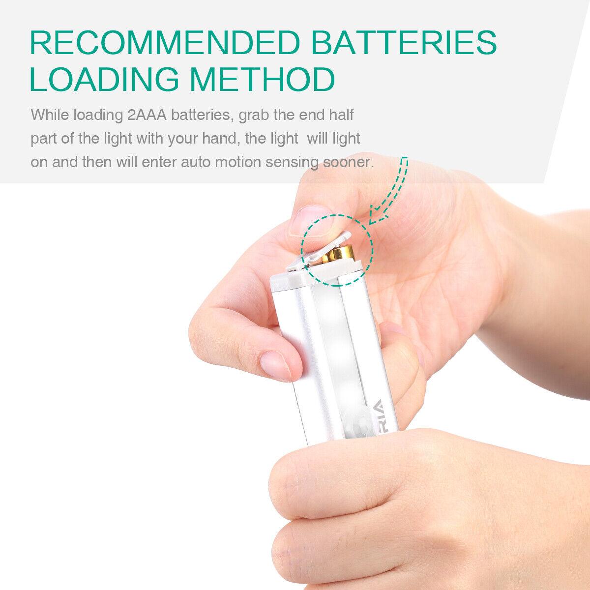 3x 6led Pir Motion Sensor Wireless Night Light Battery