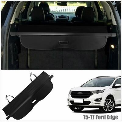 Rear Trunk Cover Retractable Black Cargo Cover Fits 2015-2017 Ford Edge