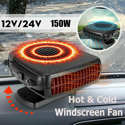 150W Electric Car Heater 12V DC Heating Fan Defogger Defroster Demister Portable