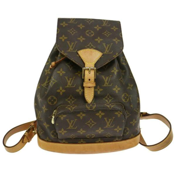be8ab3e7b99b Authentic Louis Vuitton Montsouris MM Monogram Backpack M51136 ...