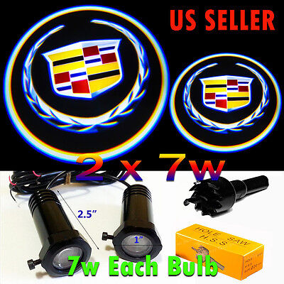 2x7w Ghost Shadow Projector Logo Cree LED Light Courtesy Door Step for Cadillac