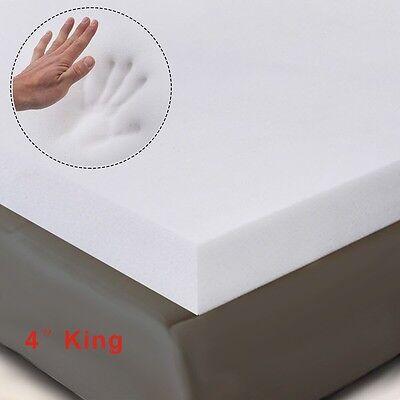 4  King Size Memory Foam Mattress Pad  Bed Topper 80 X76 X4  New