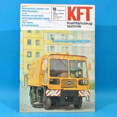 DDR KfT Kraftfahrzeugtechnik 10/1981 Moto Guzzi Takraf ADK VW Scirocco Fiat 72