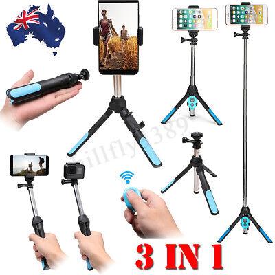 Handheld Monopod Selfie Stick Tripod Bluetooth Remote For GoPro SLR Camera Phone