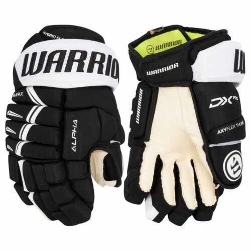 "$149 New Warrior Alpha pro Senior ice hockey gloves Black White 14"""