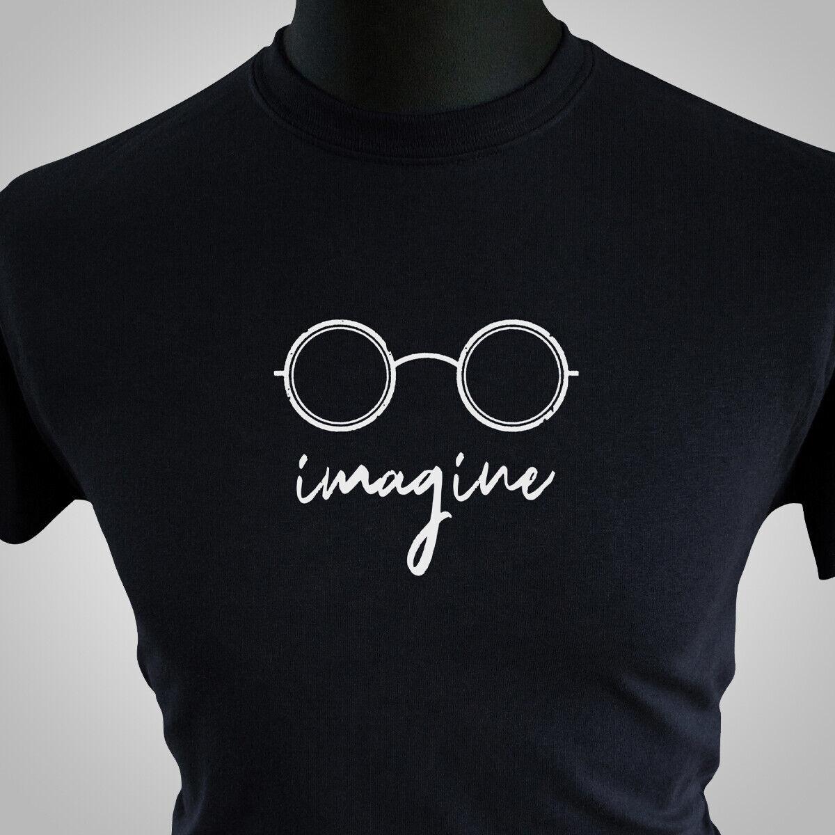 John lennon imagine black high quality T shirt brand new style