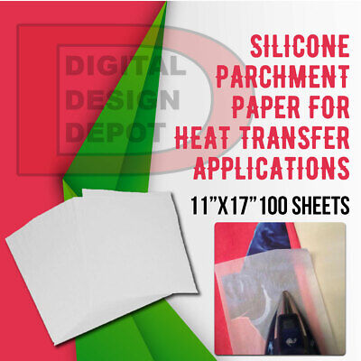 Silicone Parchment Paper For Heat Transfer Applications 11x17 100 Sheets
