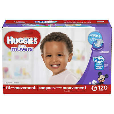 Huggies Little Movers Plus Diapers Size 6, 120ct