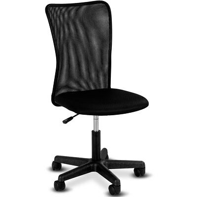 Modern Ergonomic Mesh Mid-back Office Chair Swivel Armless Computer Desk Task
