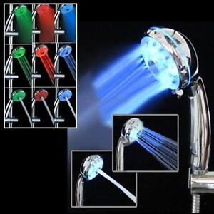 7 Colours + 3 Modes LED Changing Bright Light Automatic Water Shower Faucet Head