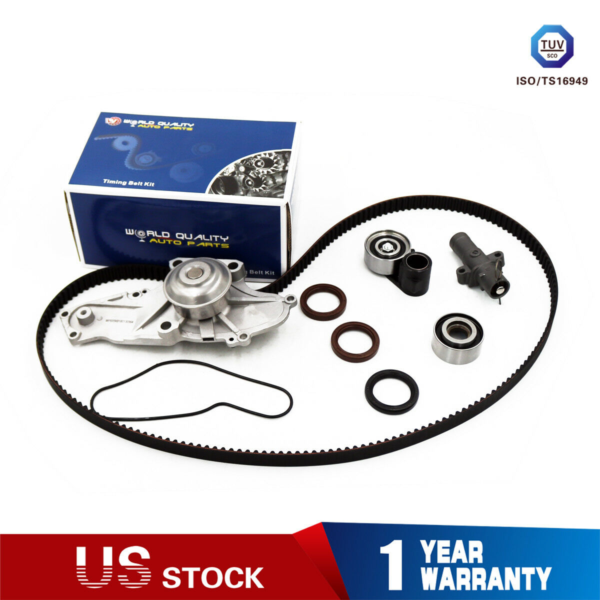 Timing Belt Kit Water Pump for 2003-2013 Acura MDX TL RL ZDX TSX RDX Honda Accord//Odyssey//Pilot//Ridgeline Saturn Vue 3.0L 3.5L 3.7L SOHC V6