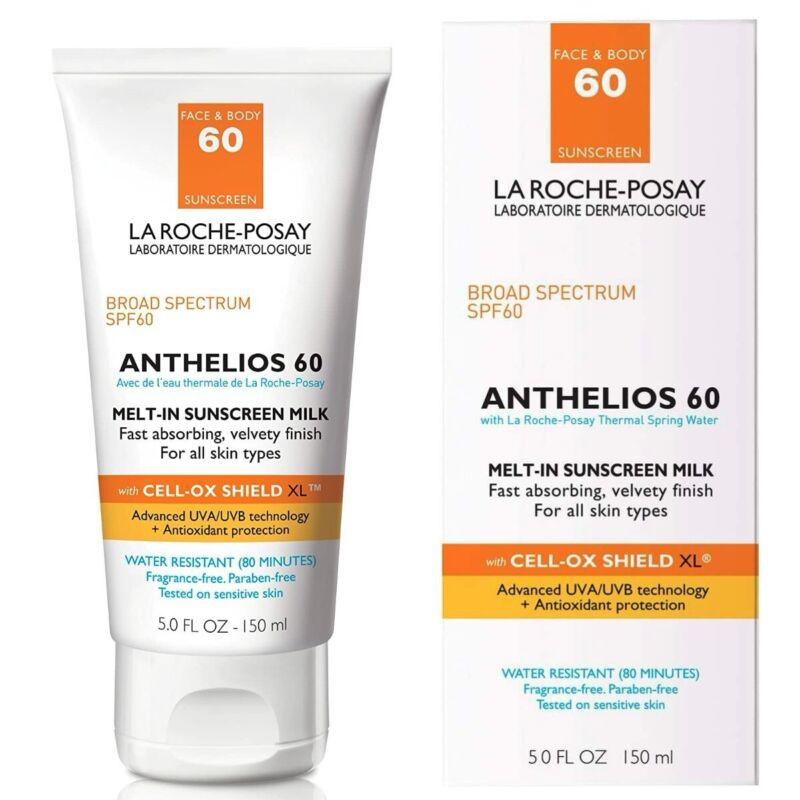 La Roche-Posay Anthelios 60 Melt-In Milk Sunscreen SPF 60, 5.0 fl oz. EXP:2024+