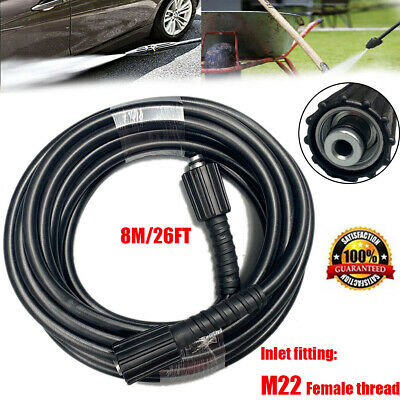 8 Metre Water Jet Power High Pressure Washer Replacement Hose 160 Bar 8m 26ft Us