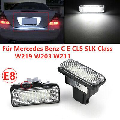 2X Für Mercedes Benz C E CLS SLK Class W203 W211 W219 LED Kennzeichenbeleuchtung