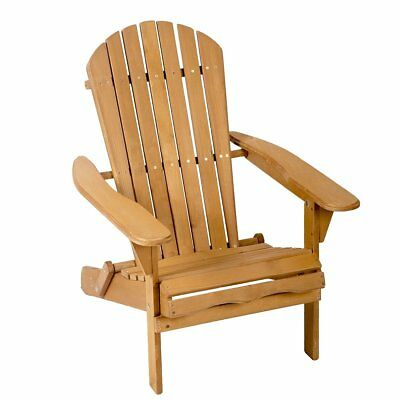 Garden Furniture - New Outdoor Wood Adirondack Chair Garden Furniture Lawn Patio Deck Seat 2000
