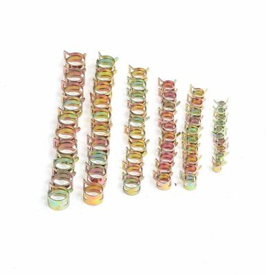 12 Pack Spring - 60pack Spring Clips Fuel Hose Line Water Pipe Air Tube Clamps 7/9/10/12/14/15mm