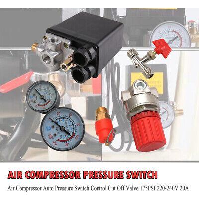 Air Compressor Pressure Switch For Porter Cable Dewalt Craftsman 175psi 4 Port