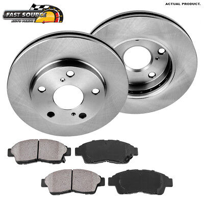 Front Brake Rotors + Ceramic Pads For 92 93 94 95 1996 1997 - 2001 Toyota Camry
