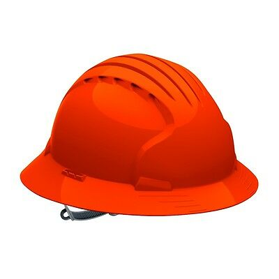 Jsp Full Brim Hard Hat With 6 Point Slip Ratchet Suspension Orange