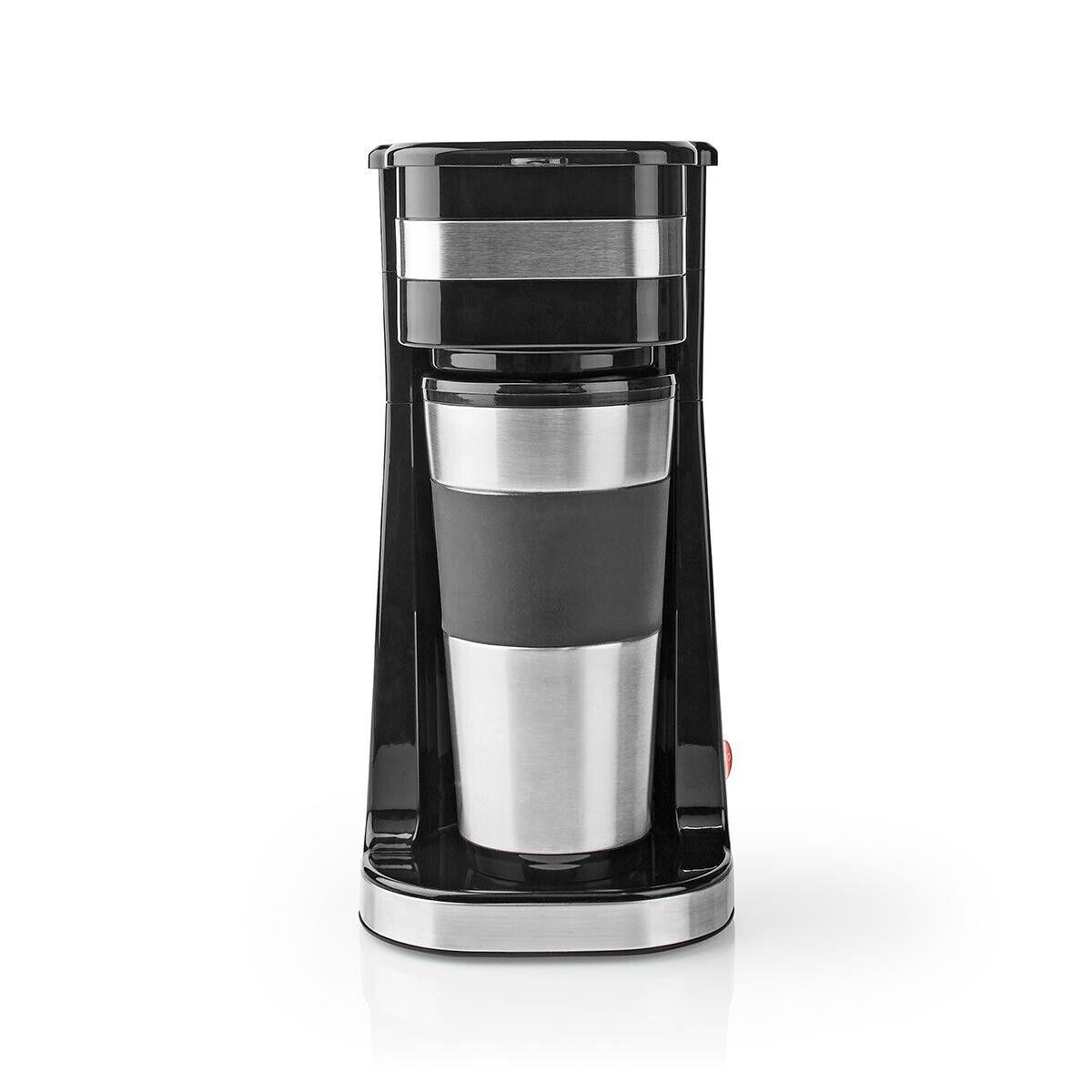 Nedis 1 Tassen Kaffeemaschine mit Thermobecher 0,42l Mini Filter kaffeemaschine