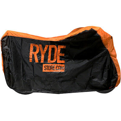 RYDE LARGE ORANGE WATERPROOF MOTORCYCLE COVER BIKE/MOTORBIKE RAIN PROTECTOR L