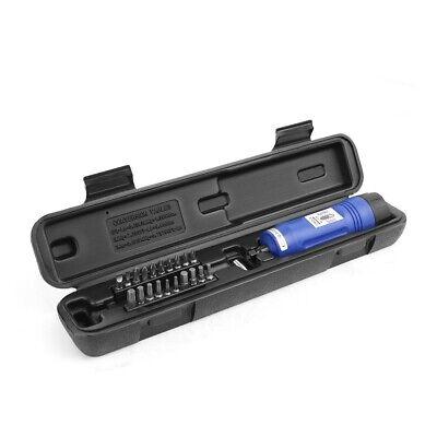 21pc Adjustable Torque Screwdriver 14 Inch Drive Long Shank 10-50 Inlb W Case