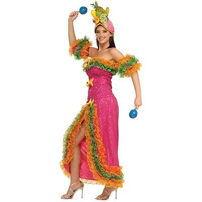 Carmen Miranda Costume Adult Carnivale Fancy Dress - Carmen Costume