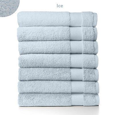 Sferra Bello Ice Blue Bath Sheet Towel Solid 100% Combed Cot