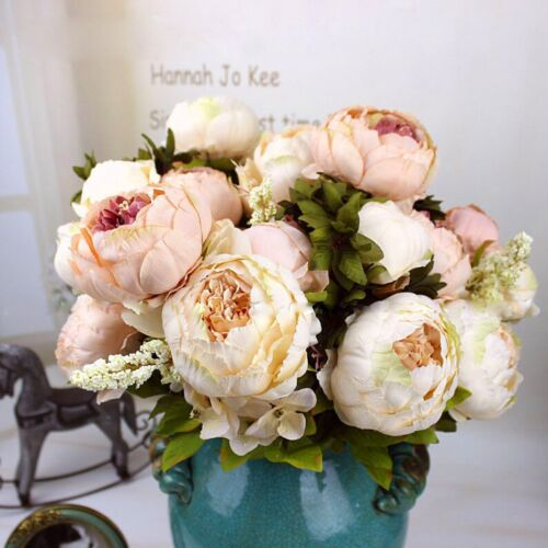 1 Bouquet NEW Artificial Peony Bridal Silk ...