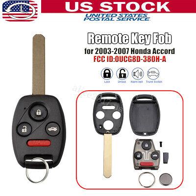 For 2003 2004 2005 2006 2007 Honda Accord Keyless Remote Key Fob OUCG8D-380H-A Honda Accord Remote