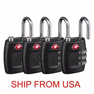 Pack of 4 TSA Lock Travel Luggage 3 Digit Combination Resettable