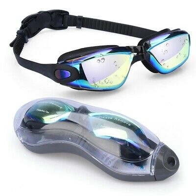 Stylish Googles Adjust Comfortable for Adult Kids Black Blue Swimming (Swimming Google)