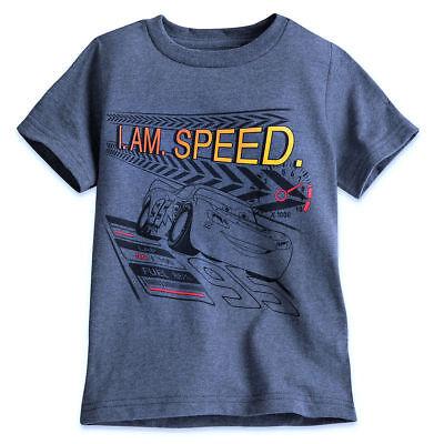 Disney Store Lightning McQueen Cars I Am Speed  T Tee Shirt Size 2/3 4 Boys NWT