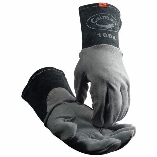Caiman 1864 - Deerskin Unlined Lean-On Patch TIG Welding Gloves
