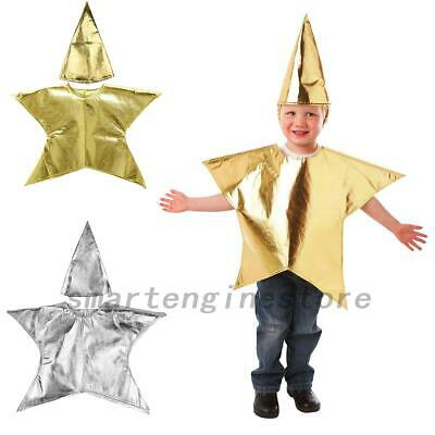 Christmas Nativity Costumes (Christmas Nativity Star Costume Childrens Fancy Dress Kids Costume with Hat)