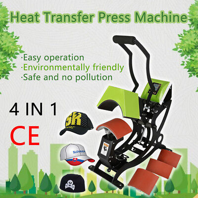 Dual Digital 4 In 1 Gas Spring Heat Sublimation Transfer Press Machine Hat Cap