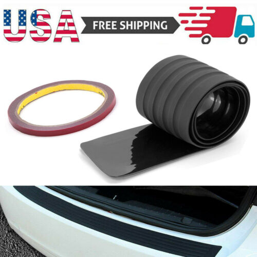 Car Rear Bumper Guard Sill Plate Trunk Protector Trim Cover Black Rubber Pad Kit Car & Truck Parts