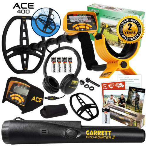 Garrett ACE 400 Metal Detector with DD Waterproof Search Coi