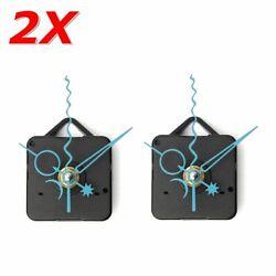2x DIY Blue Star Moon Hands Wall Quartz Clock Movement Mechanism Repair Part US