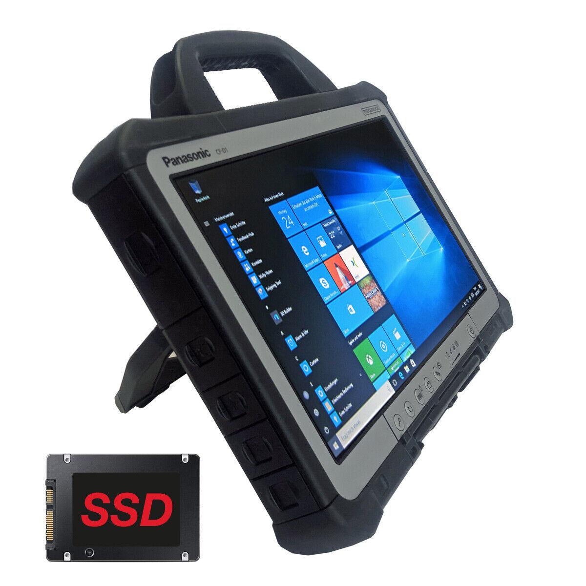 Panasonic ToughBook CF-D1 13,3 Zoll WXGA Intel CPU 4GB RAM 120GB SSD Win 10 Pro