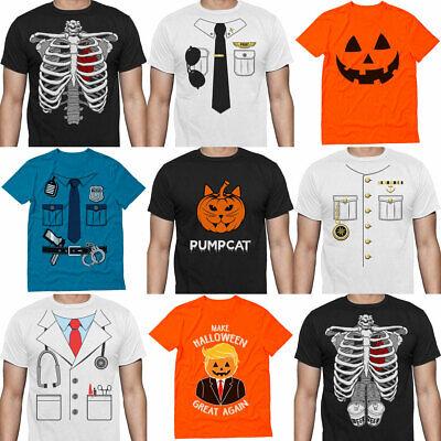 Easy Doctor Costume (Easy Men's Halloween Costume Skeleton Pilot Pumpkin Police Doctor Trump)