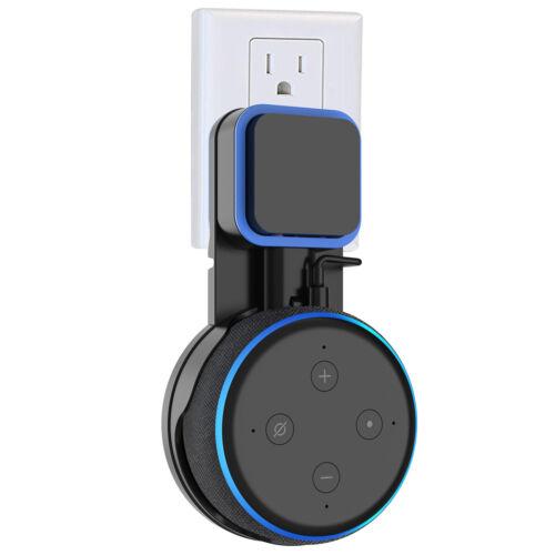 Black Outlet Wall Mount For Amazon Echo Dot 3rd Generation Holder Bracket