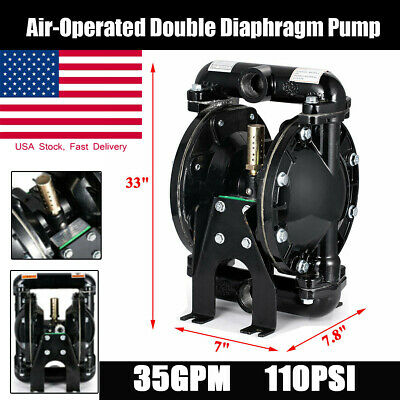 1 Inletoutlet Air-operated Double Diaphragm Pump Aluminum Nitrile 35gpm 120psi