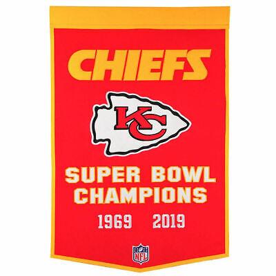 KC Chiefs Wool NFL Dynasty Banner