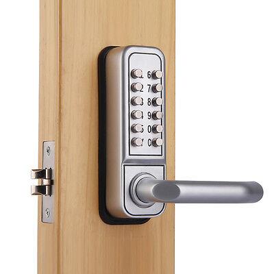 Mechanical Keypad Security Digital Code Door Lock Push Button Entry Handle