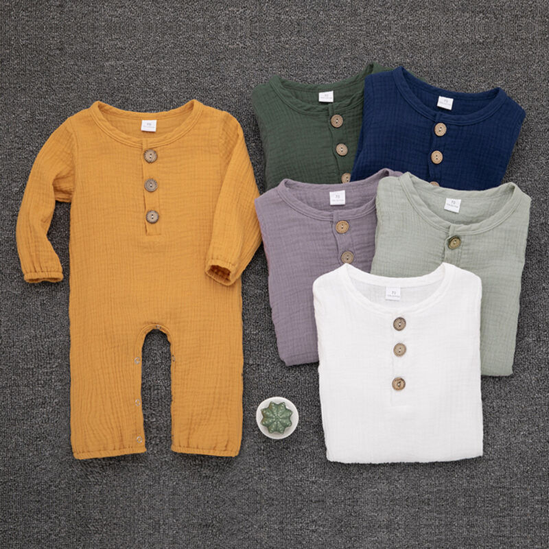 Newborn Baby Kid Boy Girl Long Sleeve Romper Jumpsuit Clothes Outfit Trousers US