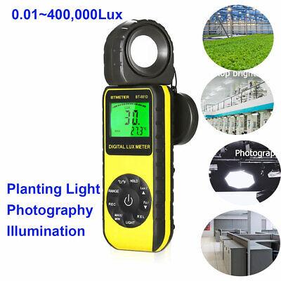 Digital Lcd Lux Light Meter 0.01-400000lux Luminance Tester Lux Range Detecter
