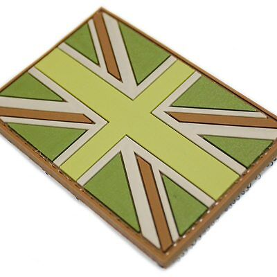 PVC Velcro Backed Union Jack Flag Military Army Tactical Patch Badge MTP Colours
