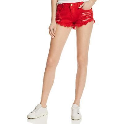Pistola Womens Gigi Cutoff Low Rise Cotton Denim Shorts BHFO 0972 Cotton Jean Shorts